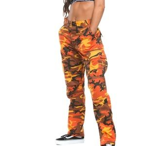 Rothco B.D.U Orange Camo. Cargo Pants